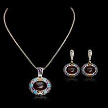 Pinannie antiguo placa de plata collar/pendientes joyería de la vendimia para las mujeres
