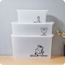 Hot Sale Organizador Organizer Storage Box Transparent Belt Cover Plastic Toys Glossy Rectangle Clothing Organizer Eco-friendly