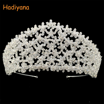 Tiaras And Crowns HADIYANA Luxury Design Wedding Party Hair Accessories For Women Elegant High Quality BC4434 Accessoire Femme