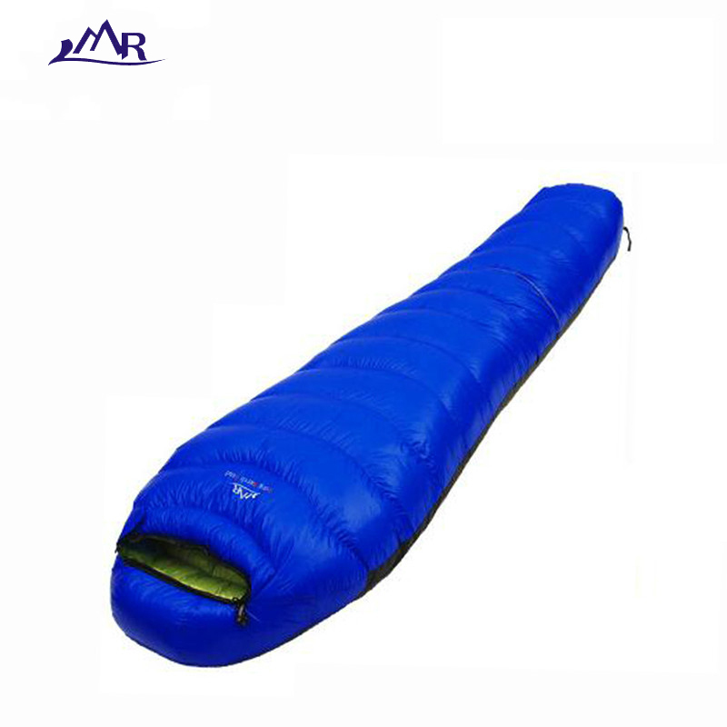 Inverno sacco a pelo di campeggio ultralight sacco a pelo giù 800g impermeabile sacchi a pelo Mummia lazy bag accessori morbidi 1000g