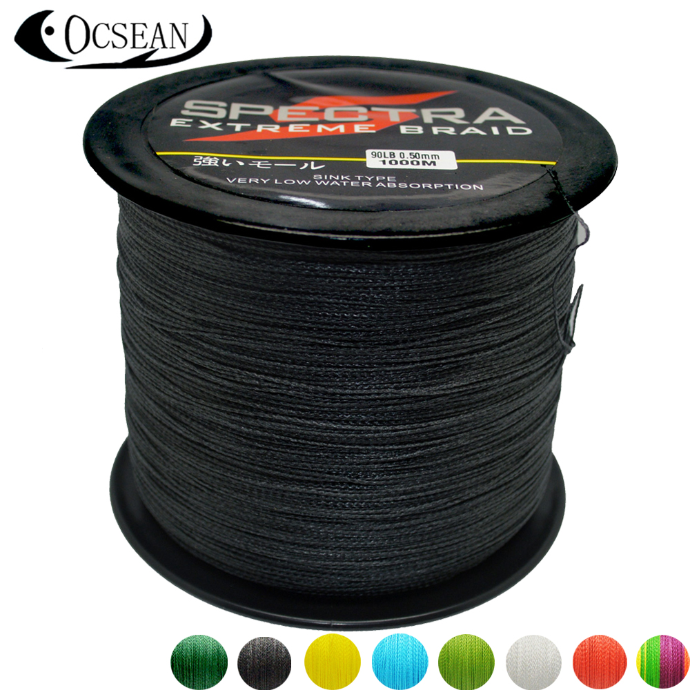 Buy spectra 1000m pe braided fishing line for Braided fishing line