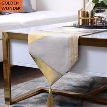 Modern Golden Simple Table Runners Elegant Runner Bed