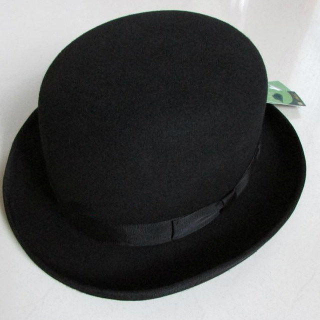 33a507eb21e Online Shop LIHUA Brand Party Fashion Bowler Hat 100% wool fedora trilby  hats for men derby felt billycock hats men s dome chapeu casquette