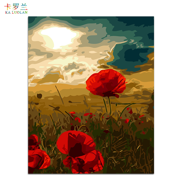 Genial Frameless Wall Picture Painting By Numbers Canvas Painting Home Decor Paint  By Number Poppies Unique Gift