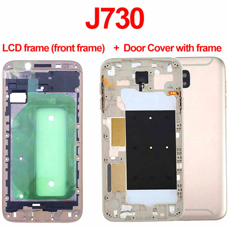 Replacement Rear Panel Battery Glass Back Door Cover Frame with key For Samsung Galaxy J7 pro 2017 J730 J730F