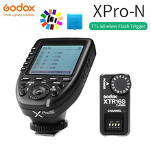 Godox XPro-N i-TTL II 2.4G Wireless X System HSS LCD Screen Transmitter + XTR-16S Receiver for Nikon Camera V860C V850C