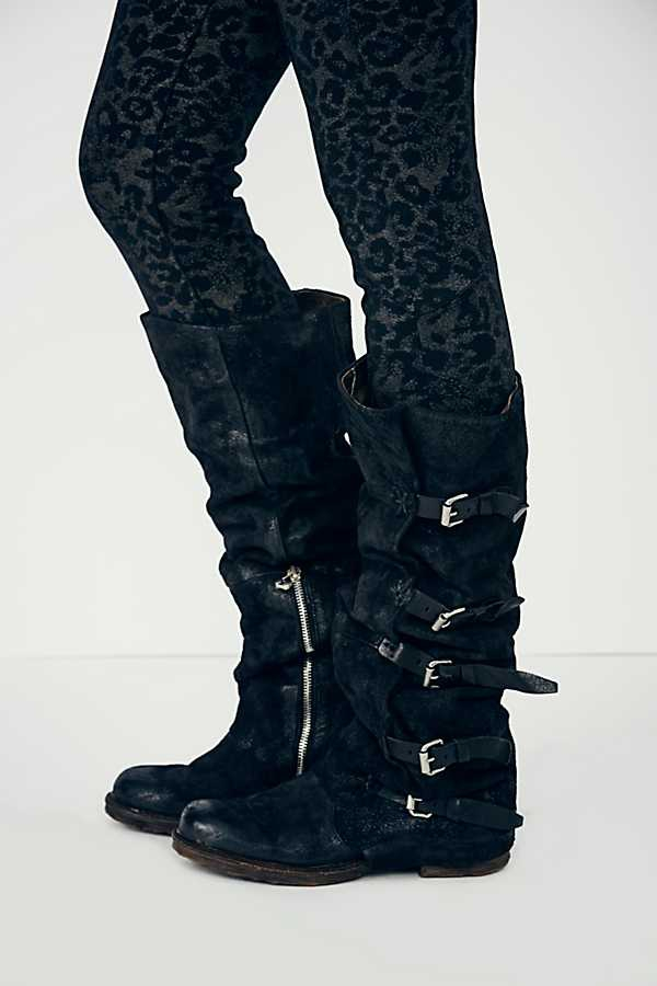 En Femmes 35 Black Carrés Décor Cuir Taille Boucle brown Faible Talons Véritable Rond Vintage 42 Ceinture Rétro Chevalier Bottes Chaussures Bout Hautes AwnFdwqS