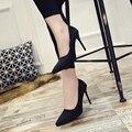 10 cm tamaño 34-40 mujeres Punta estrecha Bombas banquetes dama fiesta de baile Del Banquete de Boda Zapatos de cuero de Lona Ocasional zapatos de tacón alto G01