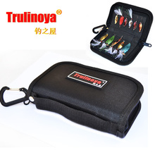 Trulinoya 15cm*9cm*3cm  Paillette bag spoon bag lure  bag fishing tackle bag large capacity Free Shipping