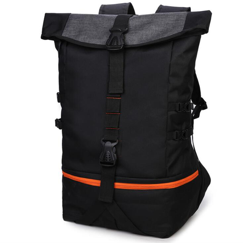 Zebella Black Men Backpack Large Capacity Male Travel Backpacks Sports Basketball Bag Breathable Rucksack Mochila School Bag