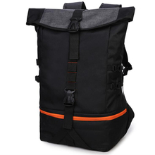 Zebella Black Men Backpack Large Capacity Male Travel Backpacks Sports Basketball Bag Breathable Rucksack Mochila School