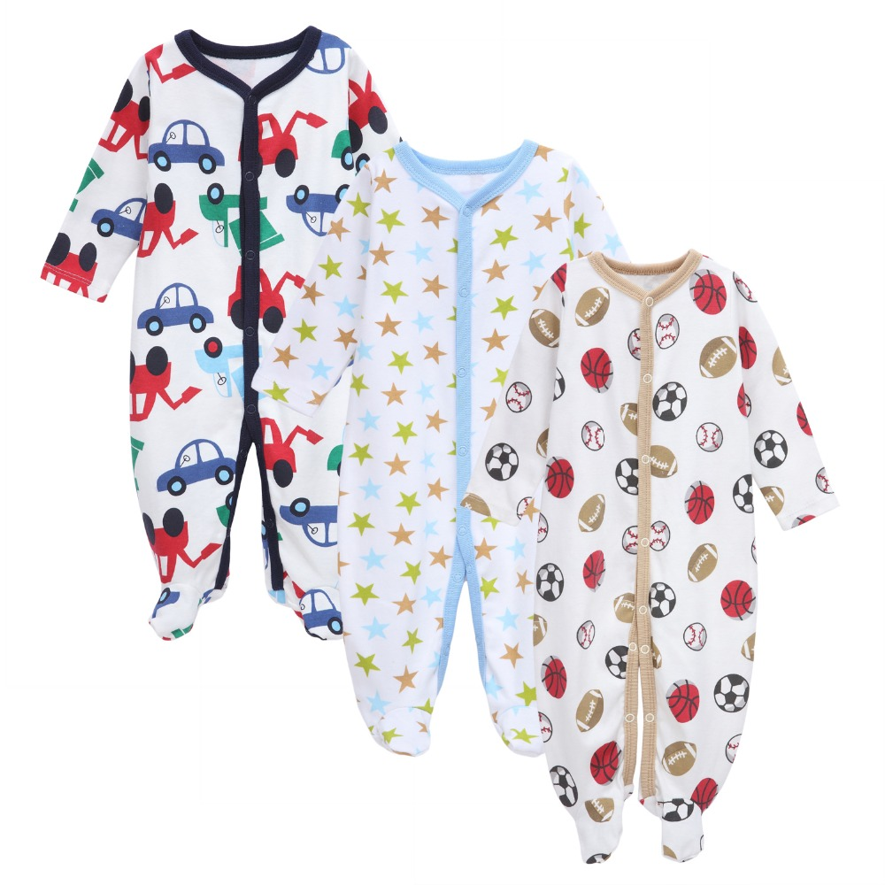 2017 New Spring Autumn Cotton Baby Rompers Toddler Jumpsuit Baby Girls Boys Newborn Bebe Overall Clothes Baby Kids Clothing