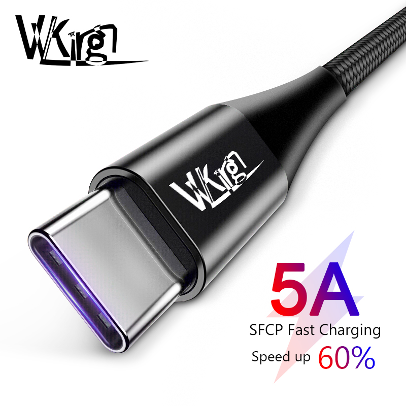 VVKing USB C Cable 5A <font><b>Supercharge</b></font> USB Type C Cable for <font><b>Huawei</b></font> Quick Charging Fast Charger Cable For Samsung S9 Note 9 Xiaomi image