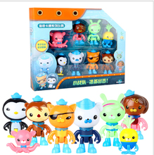 8pcs/set) With Retail Box For The Octonauts Peso Captain Barnacles Action Figure Plastics Toy Birthday Doll Model Toy For Kids original octonauts gup h and barnacles vehicle figures toy bath toy child toys