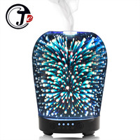 3D Flower Aroma Diffuser Air Ultrasonic Humidifier for Home Air Humidifier Essential Oil Diffuser Lamp with Changing LED Light