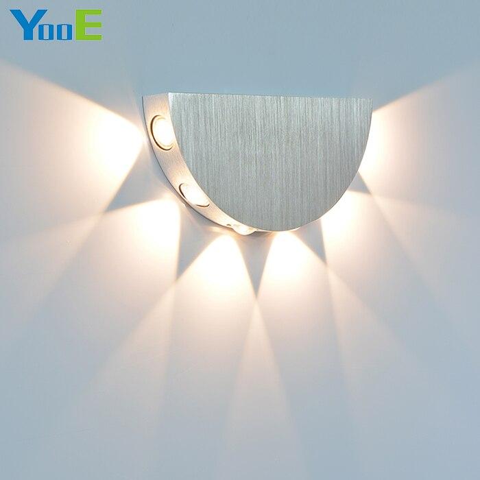 YooE 6 W Intérieur LED Mur Lampe AC110V/220 V Décorer Mur Applique Froid/Chaud Blanc Chambre Lecture LED Wall Light