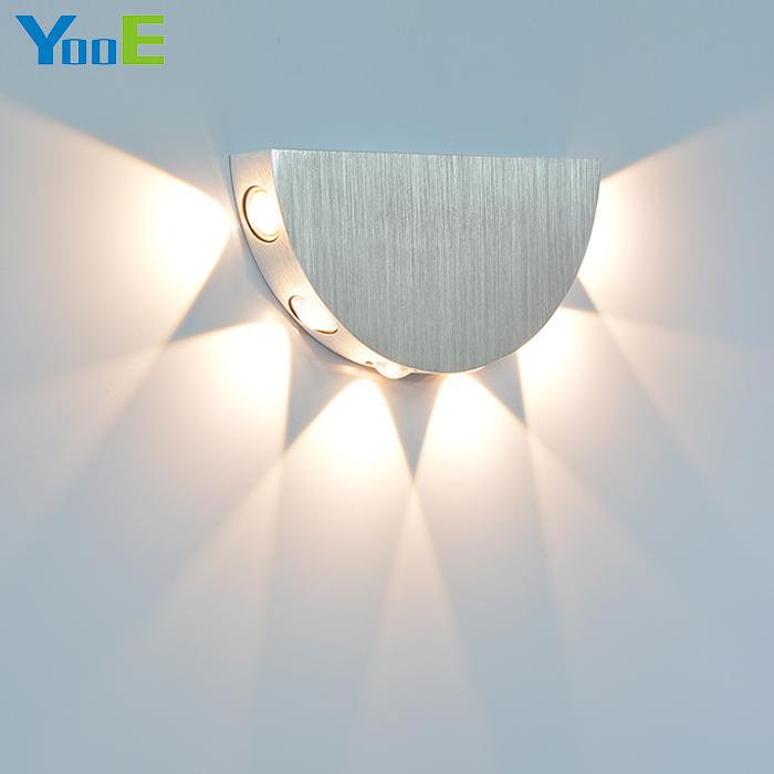 YooE 6W Indoor LED Wall Lamp AC110V/220V Decorate Wall Sconce Cold / Warm White Bedroom Reading LED Wall Light