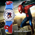Venta caliente spiderman reloj niños 3d relojes relojes saat reloj correa de caucho reloj de la historieta del bebé infantil kid regalo horas relogio