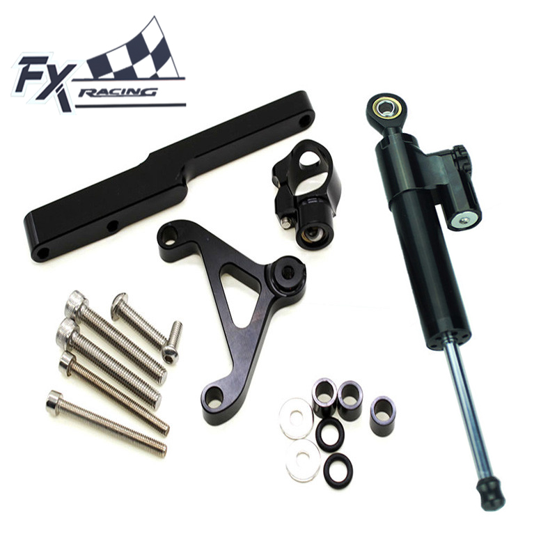 FX Aluminum Motorcycle Steering Stabilizer Damper Mounting Bracket Complete Set For HONDA CB1000R 2008-2012 2009 2010 2011