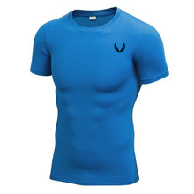 Quick Dry Compression Shirt Slim Fit Tees Men Gyms T-Shirts Bodybuilding Tops Fitness O-Neck Short Sleeve T Shirt