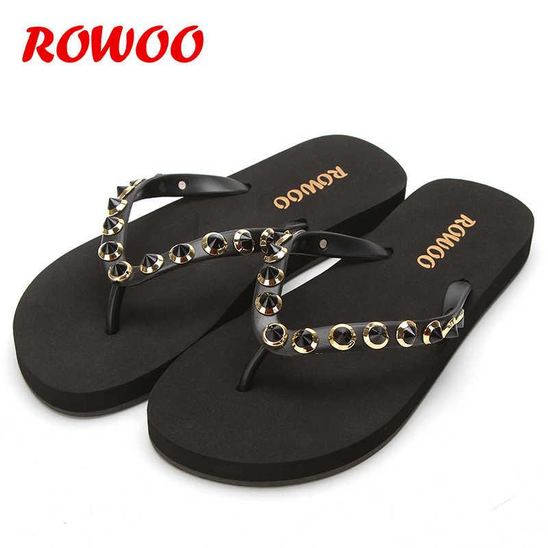 Rivert נשים חוף כפכפים קיץ חיצוני נעלי בית סנדלים נשי אופנה נעלי גבירותיי דירות מתגנדר ילדה נעליים