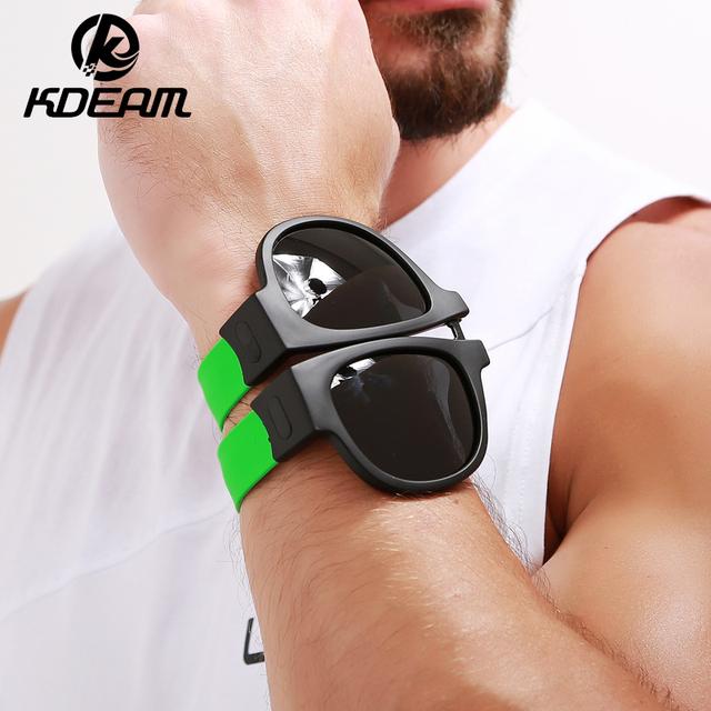 UNISEX Gafas de sol polarizadas para el aire libre plegable y portátil