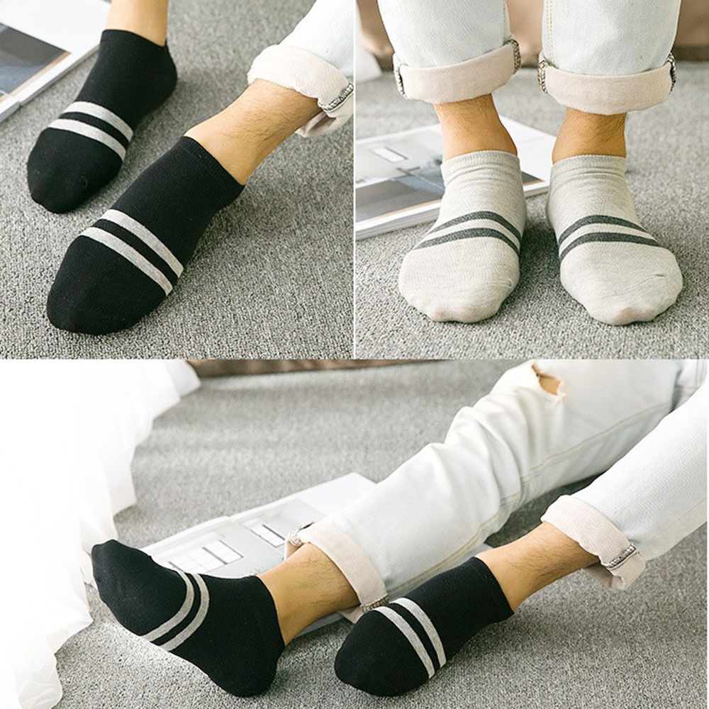 Hot 1//5 Pair Charm Mens Ankle Sport Low Cut Crew Cotton Casual Socks Breathable