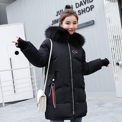 2019 Winter Jacket Women Fur Hooded Parka Long Coats embroidery Cotton Padded Winter Coat Women Warm Thicken Jaqueta Feminina 4