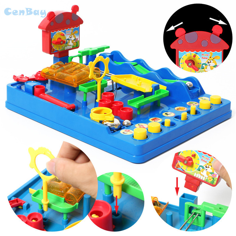 Funny Adventure of Bebe Water Park Toys Kids Waterpark Marbles Run Toys Parten-child Interactive Table Game for Children Gifts interactive toys barrel crisis novel whimsy classic family funny game toys money bank baby kids toys lucky pirate game gifts