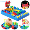 Funny Adventure Of Bebe Water Park Toys Kids Waterpark Marbles Run Toys Parten Child Interactive Table