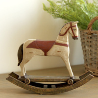 The high grade decoration Home Furnishing creative gift gift American country retro Slavic resin rocking horse ornaments