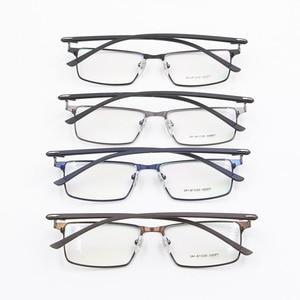 Image 5 - Monture de lunettes pour hommes P9960, en alliage de titane, cadre de lunettes lunettes pour hommes IP, matériau en alliage, monture complète, charnière à ressort