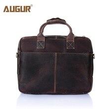 AUGUR 2017 HOT European Style Men Genuine Leather Handbags Large Capacity Designer Crossbody Bags For men Vintage Laptop Bag