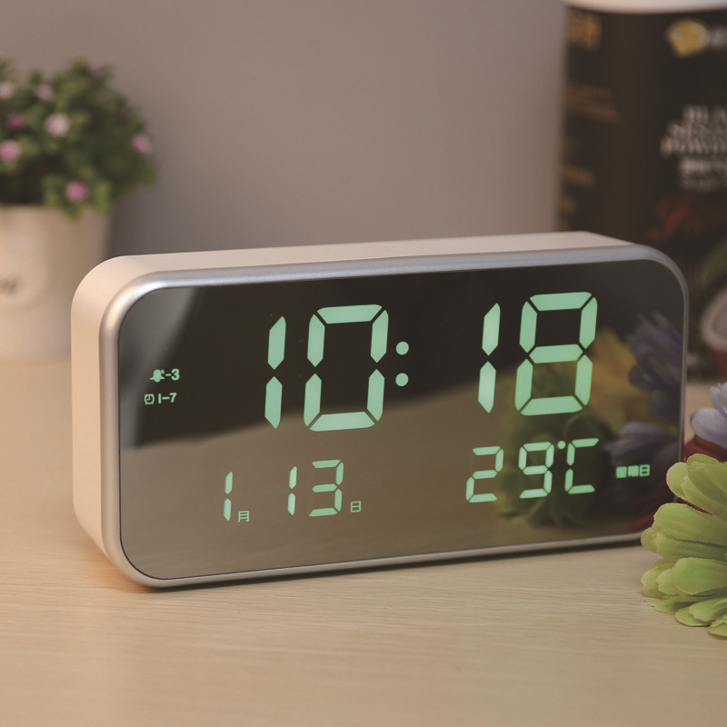 Large Digital Alarm Clock with 3 Alarm Options with Temperature Electronic Table Clocks LED Clock Backlight Student Desk Watch