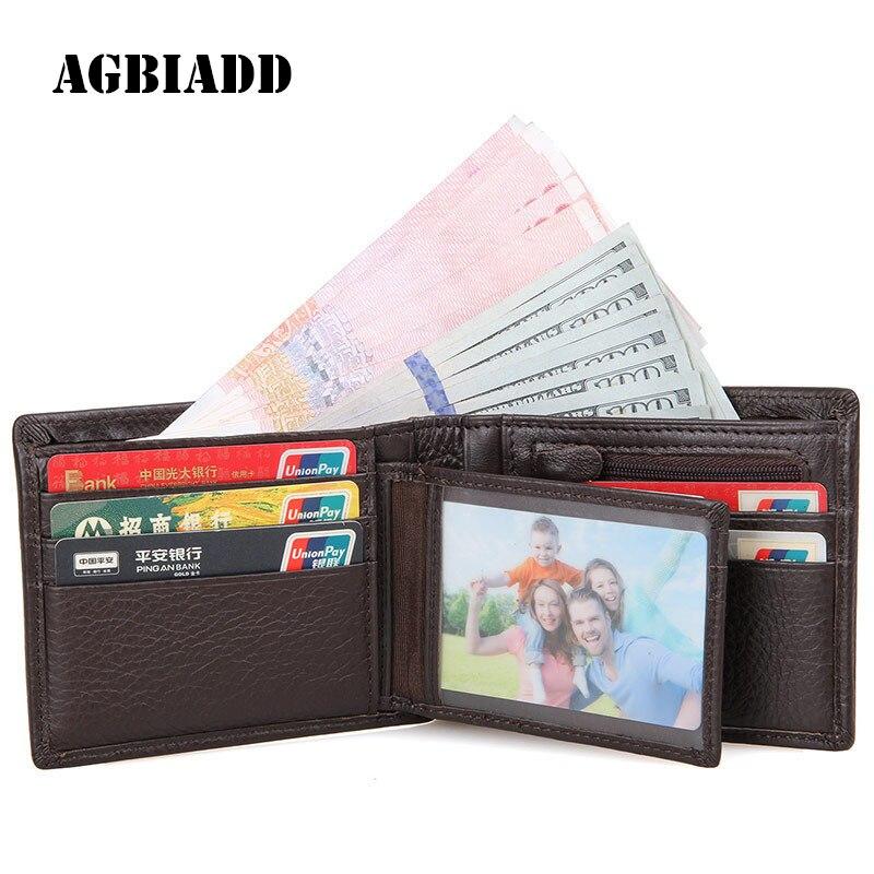 AGBIADD Fashion Men Wallets Portfo