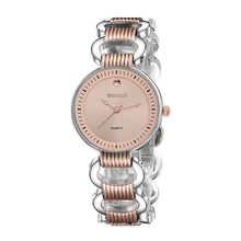 WEIQIN New Brand Hollow Watches Women Rose Gold Analog Quartz Watch Fashion Dress Bracelet Girl Party