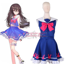 OW D.VA Game Watch and Over Hana Song Uniforms Sailor School Dress Cosplay Costume Customize