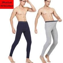 2Pcs Hot Winter Men Long Johns Cotton Thermal Underwear Men Warm Long Johns Leggings Pants High Quality