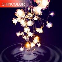 Светодиодный светильник-гирлянда Love Rose 10-20 светодиодный ночник 9 цветов на День святого Валентина, вечерние, свадебные, рождественские, сказочные украшения L