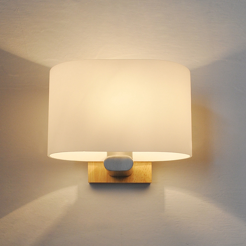 Nordic Minimalist Modern style Simple LED Wood  Wall Lamp Iron Metal Bedroom Bedside Japanese Lamp Aisle Porch Indoor Glass LampNordic Minimalist Modern style Simple LED Wood  Wall Lamp Iron Metal Bedroom Bedside Japanese Lamp Aisle Porch Indoor Glass Lamp