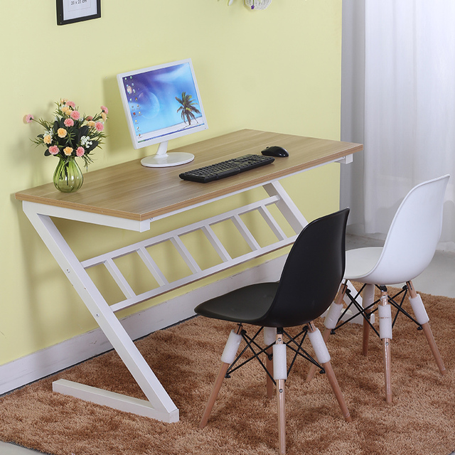Exceptionnel Easy Assembling Computer Desk Office Working Z Shaped Table