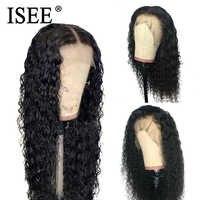 Crépus bouclés pleine dentelle perruques pour les femmes noires pré plumé 150% densité de cheveux humains perruques Remy ISEE cheveux brésiliens cheveux humains perruques