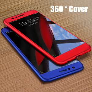 Image 1 - 360 Degree Case For Meizu M6 Note M6 M6S M5 M3 Note M5 Tempered Glass+ Protective Case Meizu Pro 7 Luxury Thin Full Cover Hybrid