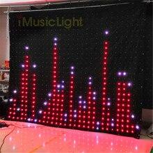 P10 2,5 м X 3 м PC/DMX контроллер Светодиодный монитор для занавес сценический гибкий экран DJ светодиодный фон для видеосъемки