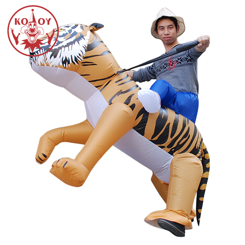 Adult Inflatable Tiger Costume Halloween Walking Animal Costumes Purim Wen Fancy Dress Party ...