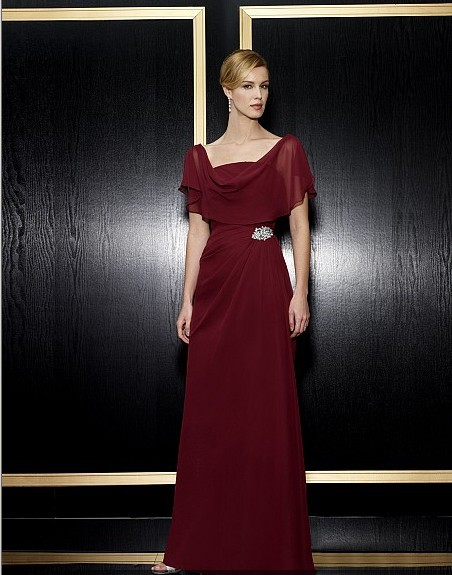 Maxi 2018 New Design Vestidos De Festa Formal Gown Red Long Chiffon Plus Size Party Evening Elegant Mother Of The Bride Dresses