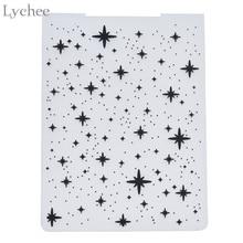 Личи звезда пластиковая папка для тиснения для подарка Скрапбукинг Фотоальбом Карта бумага ремесленный шаблон форма