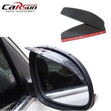 цена на Carsun 2 Pcs/lot PVC Car Rear view Mirror Sticker Rain Eyebrow Mirror Rain Shield Shade Cover Car-Styling Rainproof Blades