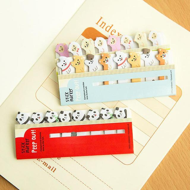 Kawaii Memo Pad Bookmarks Creative Cute Animal Sticky Notes Index Posted It Planner Stationery School Supplies Paper Stickers 2