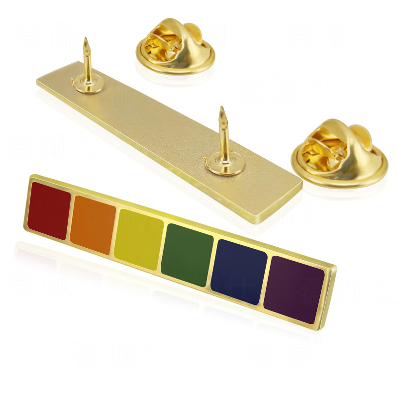 Soft Enamel Rainbow LGBT Gay Intersex <font><b>Asexual</b></font> <font><b>Pride</b></font> <font><b>Flag</b></font> Lapel Pins Stick Pins image
